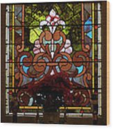 Stained Glass Lc 17 Wood Print by Thomas Woolworth