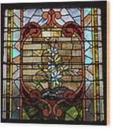 Stained Glass Lc 18 Wood Print by Thomas Woolworth