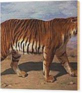 Stalking Tiger Wood Print by Rosa Bonheur