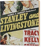 Stanley And Livingstone, Spencer Tracy Wood Print by Everett