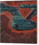 Star Trek Triptec Wood Print by David Karasow