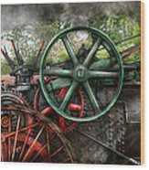 Steampunk - Machine - Transportation Of The Future Wood Print by Mike Savad