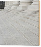 Steps Leading To The Supreme Court Wood Print by Roberto Westbrook