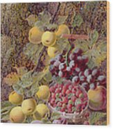 Still Life With Fruit Wood Print by Oliver Clare