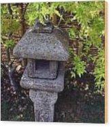 Stone Lantern Wood Print by Nina Fosdick
