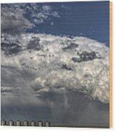 Storm Clouds Thunderhead Wood Print by Mark Duffy