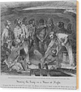 Stowing African Captives In A Slave Wood Print by Everett