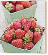 Strawberries Wood Print by Elena Elisseeva
