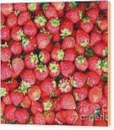 Strawberries  Wood Print by Yali Shi