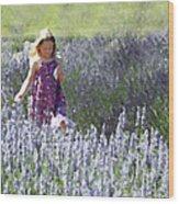 Stroll Through The Lavender Wood Print by Brooke T Ryan