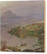 Sugarloaf From Wickham Lake Wood Print by Jasper Francis Cropsey