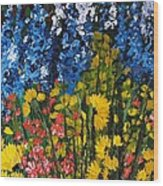Summer Colours Wood Print by Shilpi Singh