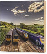 Summer Saturday At Aller Junction Wood Print by Rob Hawkins
