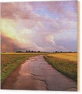 Summer Storm Raf Lavenham Wood Print by Jan W Faul