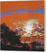 Sunburst Wood Print by RJ Aguilar