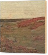 Sunrise In Autumn Wood Print by Childe Hassam