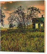 Sunrise On The Prairie Wood Print by Matthew Winn
