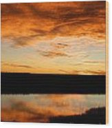 Sunrise Reflections Wood Print by Sara  Mayer