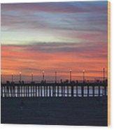 Sunset In San Diego Wood Print by Karen Becker