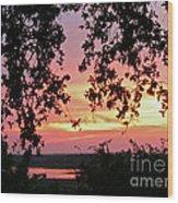 Sunset Over Canyon Lake Wood Print by Randi Shenkman
