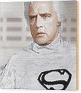 Superman, Marlon Brando, 1978 Wood Print by Everett