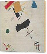 Suprematist Composition No 56 Wood Print by Kazimir Severinovich Malevich