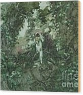 Surprised Bather Wood Print by Elizabeth Carr