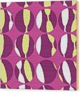 Swirly Stripe Wood Print by Louisa Knight