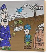 Syria Is Mordor Wood Print by Yasha Harari