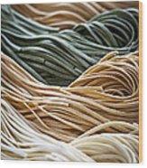 Tagliolini Pasta Wood Print by Elena Elisseeva