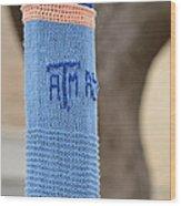 Tamu Astronomy Crocheted Lamppost Wood Print by Nikki Marie Smith