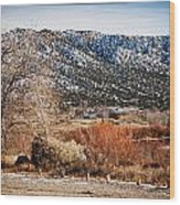 Taos Mountain View 1 Wood Print by Lisa  Spencer