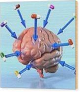 Targeted Psychological Drug Treatments Wood Print by David Mack
