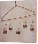 Tea Bags Wood Print by Priska Wettstein