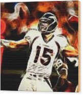 Tebow Wood Print by Paul Van Scott