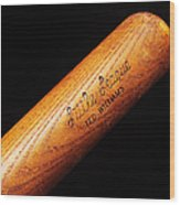 Ted Williams Little League Baseball Bat Wood Print by Andee Design