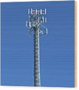 Telecommunications Tower Wood Print by Eddy Joaquim