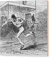 Tennis: Wimbledon, 1880 Wood Print by Granger