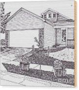 Teresa's House Wood Print by Michelle Welles