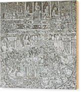 Thai Writing Patterns Wood Print by Kanoksak Detboon