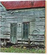That Old House Down By The Creek Wood Print by Julie Dant