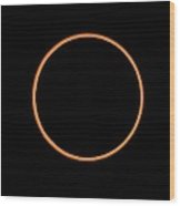 The Annular Solar Eclipse Of 10/may/1994 Wood Print by Dr Fred Espenak