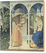The Annunciation Wood Print by Fra Angelico