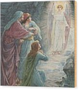 The Appearance Of The Angel Wood Print by Ambrose Dudley