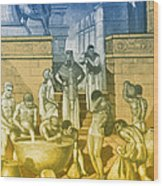 The Art Of Brewing, Babylon Wood Print by Science Source
