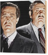 The Big Clock, From Left Ray Milland Wood Print by Everett