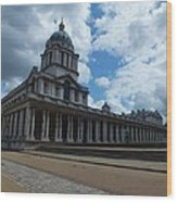 The Chapel At The Royal Naval College Wood Print by Anna Villarreal Garbis