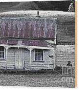 The Crooked Cottage Wood Print by Karen Lewis