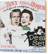 The Desk Set, Spencer Tracy, Katharine Wood Print by Everett