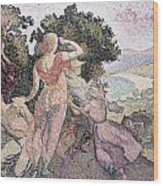 The Excursionists Wood Print by Henri-Edmond Cross
